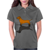 Fun Awesome Artistic dachshund Dog ans Shadow Art Womens Polo