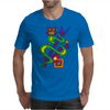 Fun Colorful Abstract Art with Owl on Top Mens T-Shirt