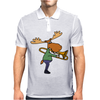 Fun Cool Moose Playing Trombone Art Mens Polo