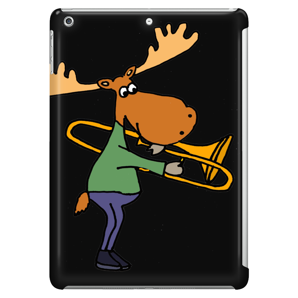 Fun Cool Moose Playing Trombone Art Tablet