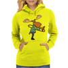 Fun Cool Moose Playing Trombone Art Womens Hoodie