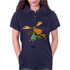 Fun Cool Moose Playing Trombone Art Womens Polo