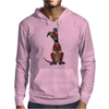 Funky Artistic Cute Greyhound Dog Abstract Art Mens Hoodie