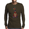 Funky Artistic Cute Greyhound Dog Abstract Art Mens Long Sleeve T-Shirt