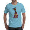 Funky Artistic Cute Greyhound Dog Abstract Art Mens T-Shirt