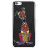 Funky Artistic Cute Greyhound Dog Abstract Art Phone Case