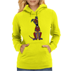Funky Artistic Cute Greyhound Dog Abstract Art Womens Hoodie