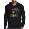 Funky Cool Squirrel with Acorn Abstract Art Mens Hoodie