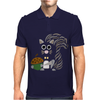 Funky Cool Squirrel with Acorn Abstract Art Mens Polo