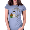 Funky Cool Squirrel with Acorn Abstract Art Womens Fitted T-Shirt