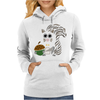 Funky Cool Squirrel with Acorn Abstract Art Womens Hoodie
