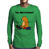 Funky Funny Brown Bear that Ate the Hiker Mens Long Sleeve T-Shirt