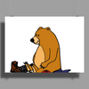 Funky Funny Brown Bear that Ate the Hiker Poster Print (Landscape)