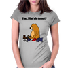Funky Funny Brown Bear that Ate the Hiker Womens Fitted T-Shirt