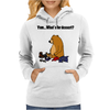 Funky Funny Brown Bear that Ate the Hiker Womens Hoodie