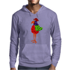 Funky Funny Colorful Rooster Original Art Mens Hoodie