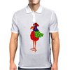 Funky Funny Colorful Rooster Original Art Mens Polo