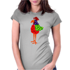 Funky Funny Colorful Rooster Original Art Womens Fitted T-Shirt