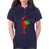 Funky Funny Colorful Rooster Original Art Womens Polo