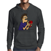 Funky Funny Gamer Dude playing Mobile App Games Mens Hoodie