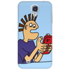 Funky Funny Gamer Dude playing Mobile App Games Phone Case
