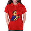 Funky Funny Gamer Dude playing Mobile App Games Womens Polo