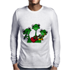Funky Green Tree Frogs Playing Musical Instruments Mens Long Sleeve T-Shirt