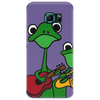 Funky Green Tree Frogs Playing Musical Instruments Phone Case