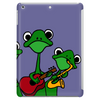 Funky Green Tree Frogs Playing Musical Instruments Tablet