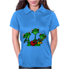 Funky Green Tree Frogs Playing Musical Instruments Womens Polo