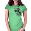Funky Samurai Womens Fitted T-Shirt