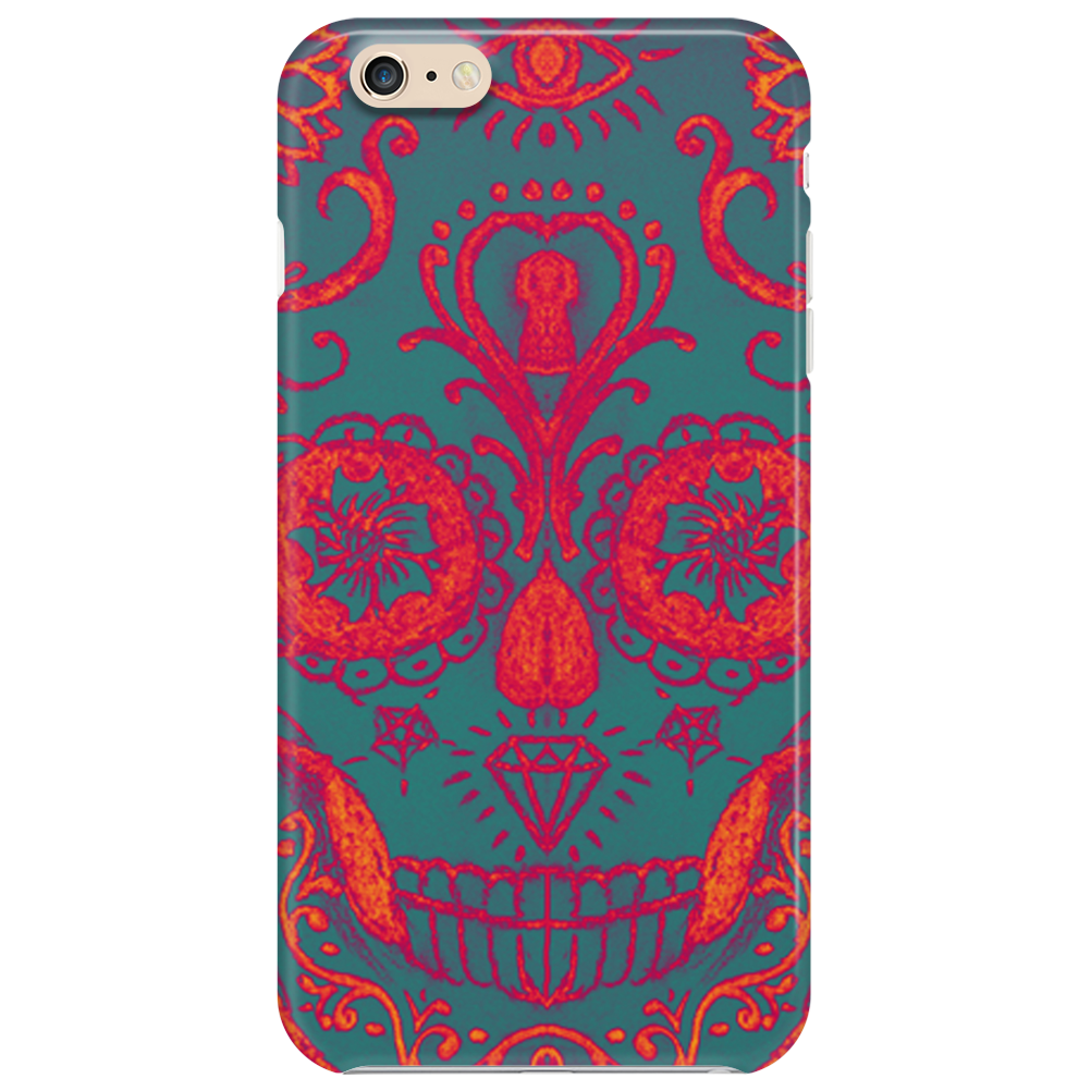 Funky Sugar Skull Phone Case