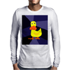 Funky Yellow Duck Primitive Art Mens Long Sleeve T-Shirt