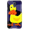 Funky Yellow Duck Primitive Art Phone Case