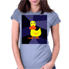 Funky Yellow Duck Primitive Art Womens Fitted T-Shirt
