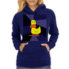 Funky Yellow Duck Primitive Art Womens Hoodie