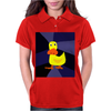 Funky Yellow Duck Primitive Art Womens Polo
