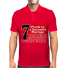 Funny  7 Words for Marriage, Ideal Gift, Birthday Present Mens Polo