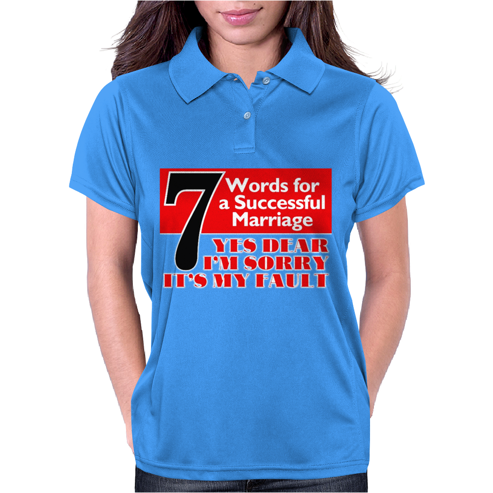 Funny  7 Words for Marriage, Ideal Gift, Birthday Present Womens Polo