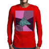Funny Aardvark with Purple Background Mens Long Sleeve T-Shirt