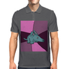Funny Aardvark with Purple Background Mens Polo