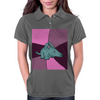 Funny Aardvark with Purple Background Womens Polo