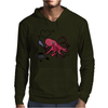 Funny and Funky Octopus is Writing I Love You Mens Hoodie