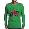 Funny and Funky Octopus is Writing I Love You Mens Long Sleeve T-Shirt