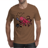 Funny and Funky Octopus is Writing I Love You Mens T-Shirt