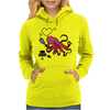 Funny and Funky Octopus is Writing I Love You Womens Hoodie