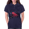 Funny and Funky Octopus is Writing I Love You Womens Polo
