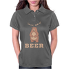 Funny Animal Pun Beer Bear Deer Womens Polo