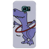 Funny Artistic T-Rex Dinosaur Playing Hula Hoop Phone Case