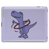 Funny Artistic T-Rex Dinosaur Playing Hula Hoop Tablet (horizontal)